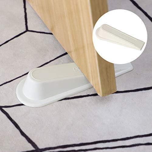 Flexible Door Holder Without Scratches 3 Pieces White Rubber Door Stop Multi-Surface Door Stop Wedges Hollow Door Wedges