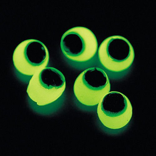 Lot of 48 Glow In The Dark Sticky Eyes Halloween Haunted House -
