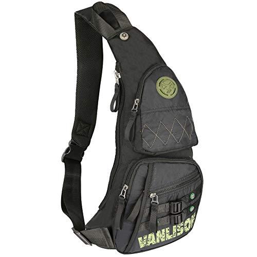 6f6b0fb65c8a Sling Bag, Sling Backpack, Shoulder Bag, Larswon Men Bag Women Bag ...