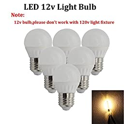 (Pack of 6) 12 Volt LED Bulbs, Standard Base,Low Volatage Light Bulbs,RV LED Bulbs,Soft White,Equivalent to 25W Incandescent Bulb for RV Camper,Solar Powered and Off Grid