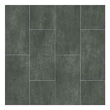 Sol PVC Best - motif Carrelage Gris Foncé Marbré (2 x 4m): Amazon.fr ...