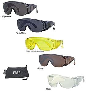 #1 Fit Over Prescription Rx Wrap Around Sunglasses No Blind-spot