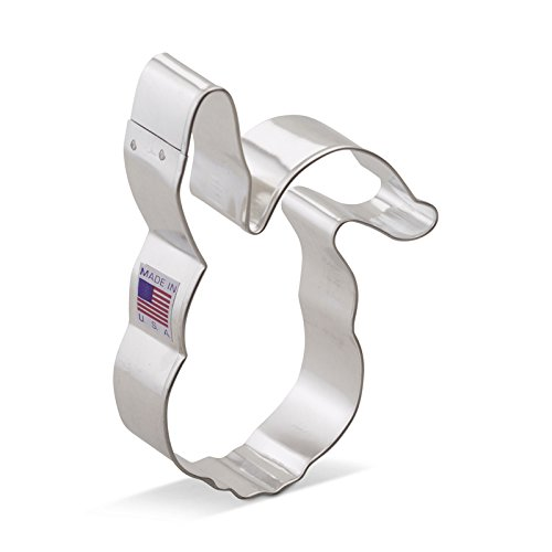 Ann Clark Easter / Bunny Rabbit Cookie Cutter - 4.4 Inches - Tin Plated Steel
