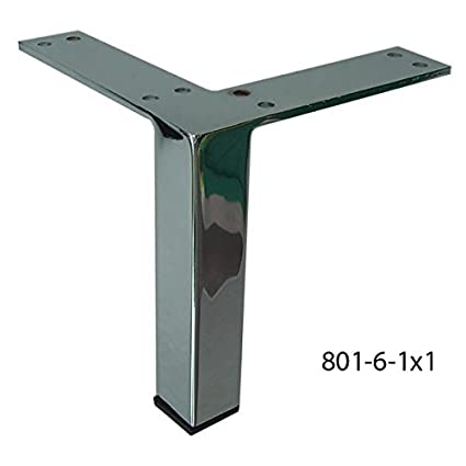 Captivating Alpha Furnishings Square Metal Furniture Leg 6 Inch Chrome, Affordable DIY  Made Easy!