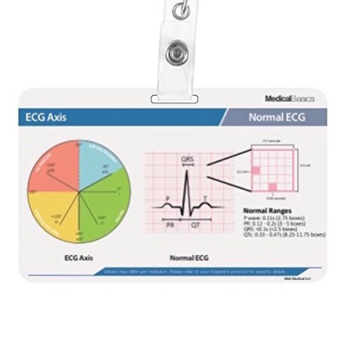 Scrubnotes - Medical Reference ID Badge Cards - 13 Card Set with Pocket Medical Abbreviation Booklet for Doctors and Nurses by Medical Basics (Image #1)