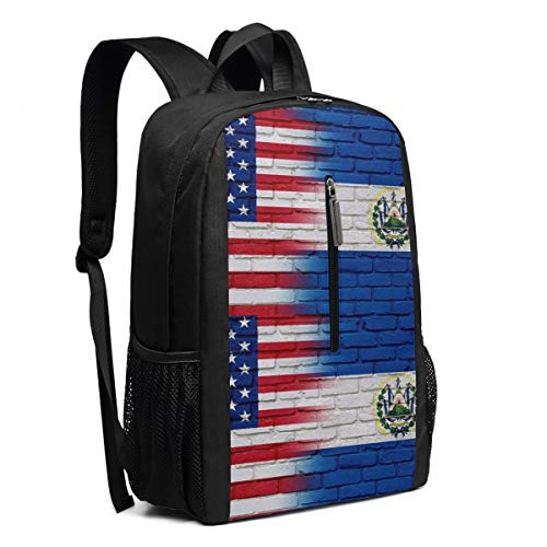 Laptop El Salvador - Large Hiking Outdoor Backpacks Flag of El Salvador Salvadorian College High School Daily Student Office Travel High Capacity Laptops Computer Daypack Book Bag for Woman Girls