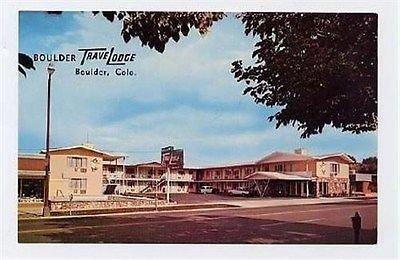 Travelodge Motel Postcard Boulder Colorado