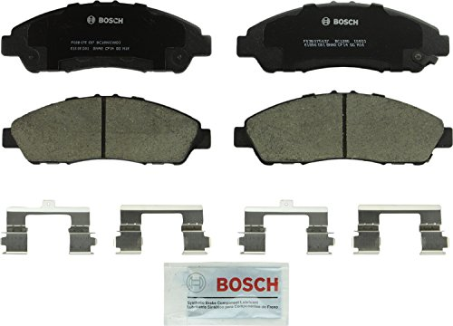 Bosch BC1280 QuietCast Premium Ceramic Disc Brake Pad Set For: Acura MDX, ZDX; Honda Pilot, Front -