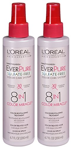 (LOreal Paris Hair Expertise EverPure 8-in-1 Color Miracle Treatment Leave-in Spray, 6.7 Fl Oz (Pack of 2))