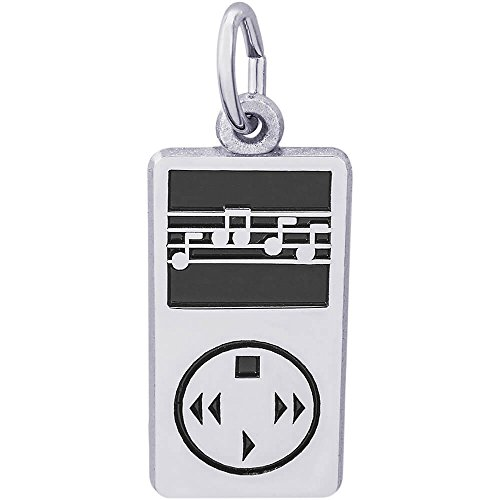 Rembrandt Charms Sterling Silver MP3 Player Charm (18 x 10 (Mp3 Player Charm)