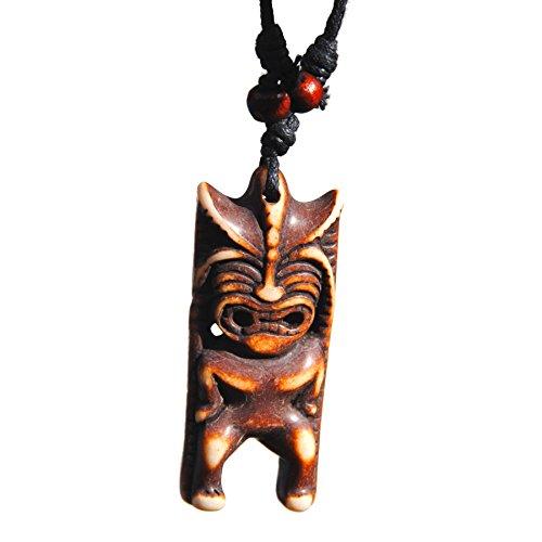 Ku Tiki Mask (Hawaiian Tribal Squinting Ku Tiki Necklace)