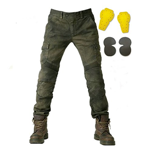 Green Motorcycle Pants - 3
