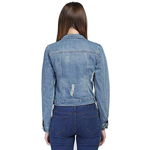 femme longues 6xl 5xl Parka jean en à manches modèle Veste 4xl Zlulu FqR515