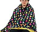 Fleece throw blanket- Triangles