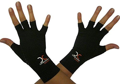 Best Compression Gloves Copper Comfort- Helps Arthritis Speeds Recovery in Hands & Fingers - Highest Copper Percent GUARANTEEDPair of Medium Gloves