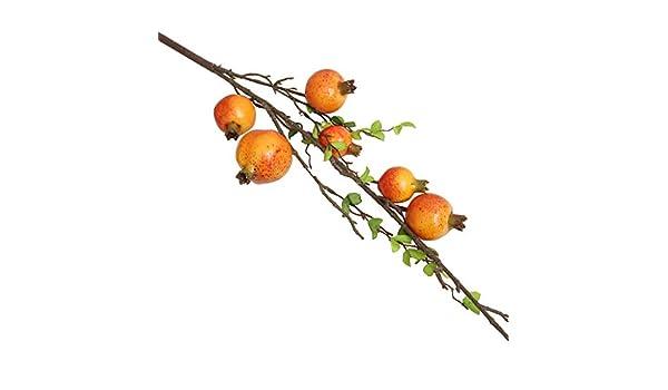 Pérgola artificial con forma de rosa, fruta, granada, bayas ...
