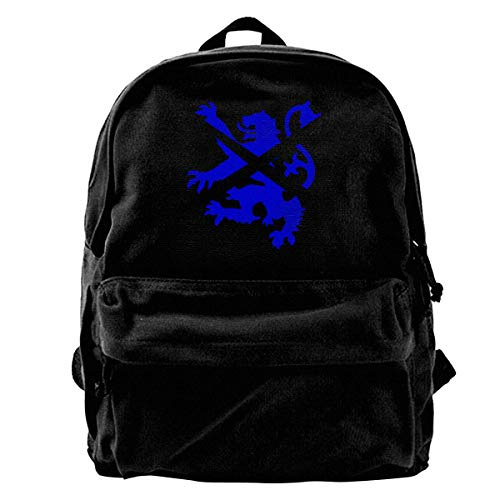 Scottish Lion and Saltire Canvas Backpack for Men Women Lightweight Travel Backpack College Student Bookbags Laptop Backpack ()