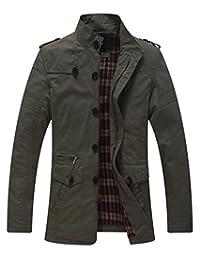 Men's Lightweight Cotton Stand-Collar Jacket