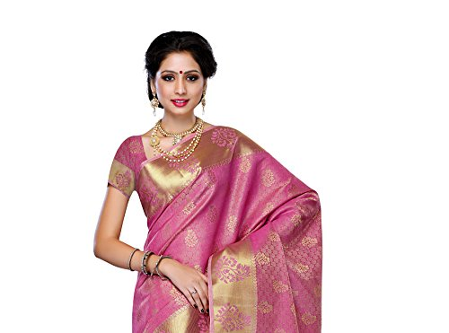 Mimosa-WomenS-Tussar-Silk-Saree-With-BlouseColorPink3192-178-PINK