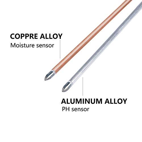 Jellas Soil pH Meter, 3-in-1 Moisture Sensor Meter/Sunlight/pH Soil Test Kits Test Function for Home and Garden, Plants, Farm, Indoor/Outdoor Use by Jellas (Image #3)