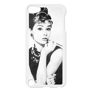 2015 customized Audrey Hepburn Pattern Custom Case for Ipod Touch 5, Personalized Audrey Hepburn Pattern Case