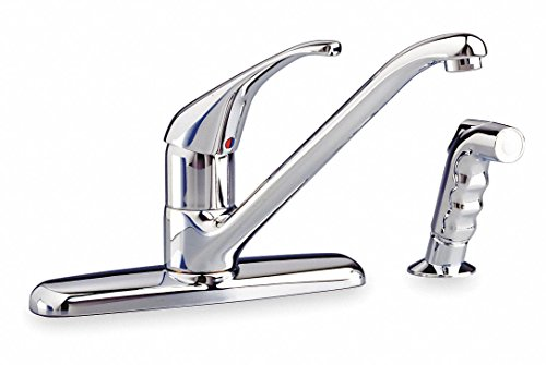 American Standard Lead Free Cast Brass Reliant+ Kitchen Faucet w/Side Spray, Manual Faucet Operation, Number of Handle