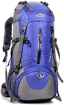 サイクリングバックパック サイクリング、ハイキング、キャンプ用50L特大サイズ防水高性能サイクリングバックパック (Color : Blue, Size : 60*30*20cm)