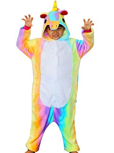 Rainbow Unicorn Onesie Costume for Kids Children Christmas Pajamas Girls Animal