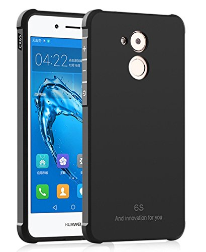 Huawei Honor 6C Funda, Calidad Premium Cubierta Delgado Caso de TPU Silicona Funda Protective Case Cover para Huawei Honor 6C Negro
