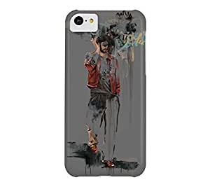 Graffiti Man iPhone 5c Dim gray Barely There Phone Case - Design By Humans