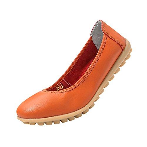 Chaussue Grand Ville Femme Pour ete Basses En De Printemps Cuir Hee Orange Pu ESqBF6Wq