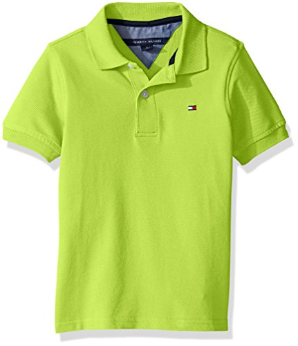 - Tommy Hilfiger Boys' Little Ivy Polo, Lime Tonic, Large/6