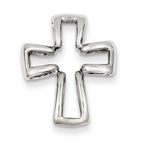 Icecarats Créatrice De Bijoux Or Blanc 14K Pendentif Croix