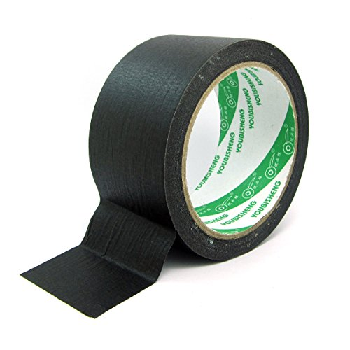 WINGONEER 27 yards Mask Masking Tape for Indoor and Outdoor Width 50mm - Black by WINGONEER®