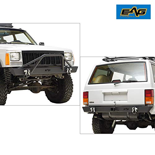 EAG Front Bumper and Rear Bumper for 84-01 Jeep Cherokee XJ