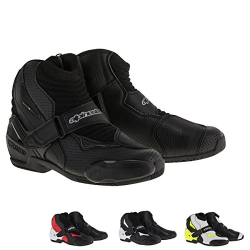 Alpinestars SMX-1R Vented Men's Street Motorcycle Shoes - Black / 46 (Motorcycle Vented Boots)