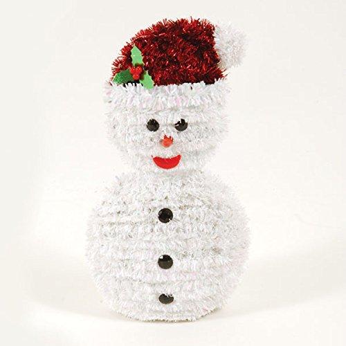 - 3D Tinsel Snowman Centerpiece