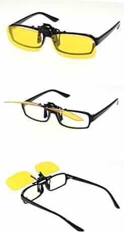 5f7e1705d74 Zando Unisex Outdoor Driving Rectangle Reflective Wayfarer Flip Up Clip on  Cycling Sport Polarized Sunglasses