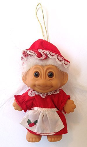 Mrs Claus Troll Christmas Ornament by Russ