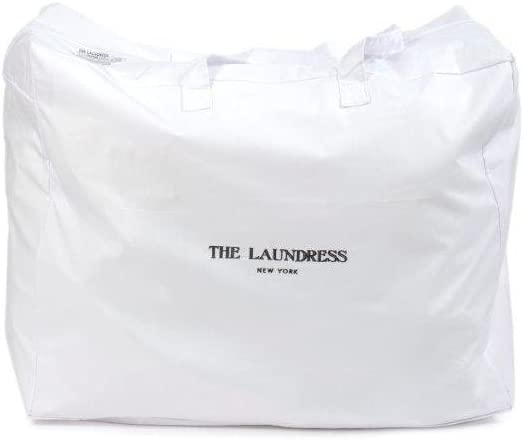 The Laundress - Large Zip Laundry Bag, Clothes and Garments, 100% Cotton, Handles for Easy Transport
