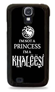 487 Black and White I'm Not A Princess I'm A Khaleesi Game of Thrones- Black Hardshell Case for Samsung Galaxy S4