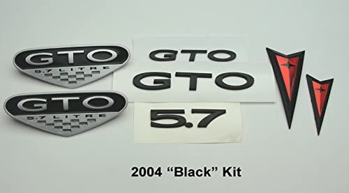 Pontiac GTO 6.5 Litre Logo Emblem NEW Men/'s Black T-Shirt S M L XL 2XL
