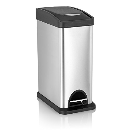 Rectangular Step Trash Can Atecking Stainless Steel