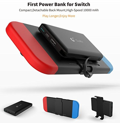 Portable Power Bank for Nintendo Switch - 10000mAh Rechargeable Extended Battery Charger Case - Compact Travel Backup Battery Pack for Nintendo Switch by Emperor of Gadgets® by Emperor of Gadgets