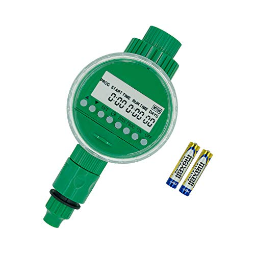 Amble Hose Faucet Timer, Programmable Sprinkler Water Timer with Battery Included – Automatic Irrigation Waterproof for Garden Lawn and Outdoor