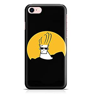 Loud Universe Logo Johny Bravo iPhone 7 Case Black Johny Bravo iPhone 7 Cover with 3d Wrap around Edges
