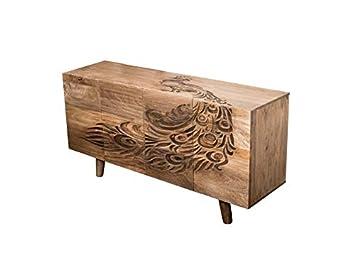 Sideboard Mangoholz Massivholz Peacock Modern Vintage Design Amazon