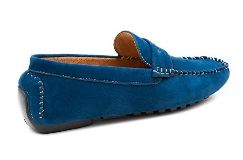 Scamosciati Casual Class Mocassini Blu Scarpe Uomo Evoga Shoes Man's wq1vIW