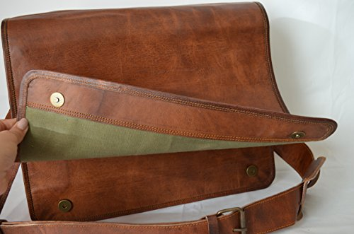 17576c240b39 Komal's Passion Leather Vintage Mens 16 Inch Leather Laptop ...