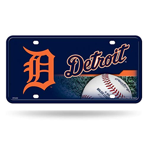 MLB Detroit Tigers Metal Auto Tag